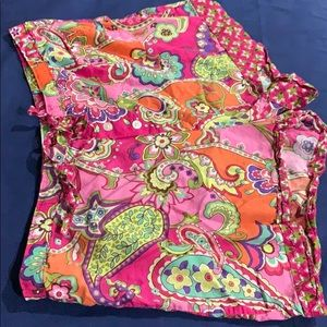 Vera Bradley cotton paisley shorts XL excellent